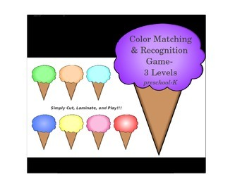 Color Recognition Matching Games