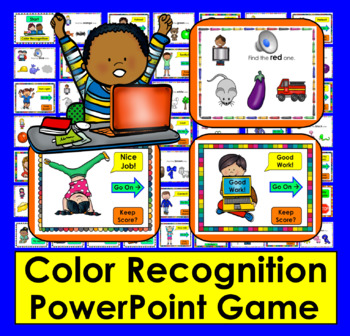 Color Recognition PowerPoint Game With Video Preview