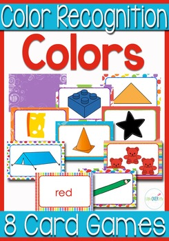 Color Recognition: 8 Card Games for Literacy & Math Centers