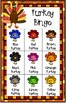Color Recognition Turkey Bingo Game Thanksgiving Classroom Party 30 Boards