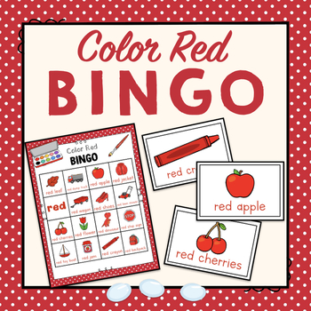 Color Red Bingo Game