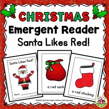 Christmas Emergent Reader Santa Likes Red