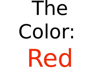 Color Red Preschool PowerPoint Lesson *Editable*