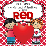 Color Red Valentines Centers, Activities and Printables fo