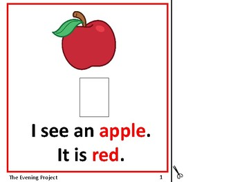 Color Red-adapted book for Early Childhood, Special Education, and Autism
