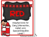 Color Red-adapted book for Early Childhood, Special Educat