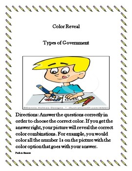 Color Reveal - 8 Forms of Government Activity