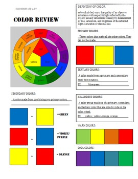 Color Review Sheet