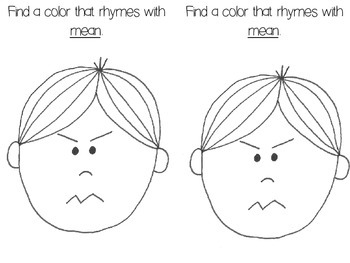 Color Rhymes Emergent Reader Freebie