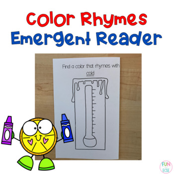 Color Rhymes Emergent Reader Freebie
