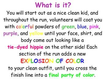 Color Run Fundraising SmartBoard Presentation