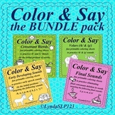 Color & Say: the BUNDLE pack (articulation therapy)