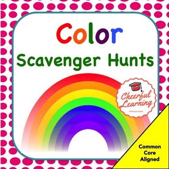 Color Scavenger Hunts Common Core Aligned