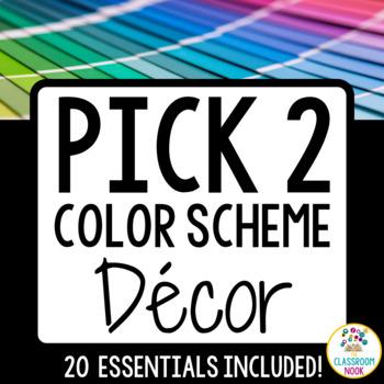 Color Scheme Decor Pack BUNDLE: You-Pick-Two