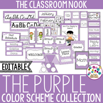 Color Scheme Decor Pack: The Purple Collection