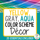 Color Scheme Decor Pack: The Yellow, Gray, & Aqua Collection