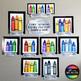 Color Scheme Family Portrait Posters