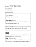 Color Scheme Lesson Plan