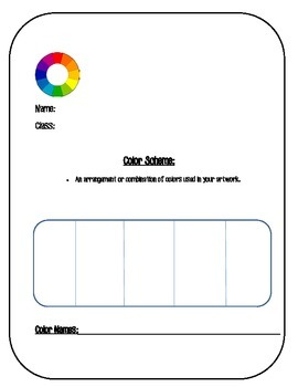 Color Scheme Worksheet