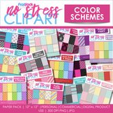 Color Schemes Digital Papers BUNDLE
