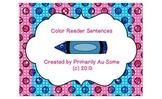 Color Sentence Reader for Emerging Readers