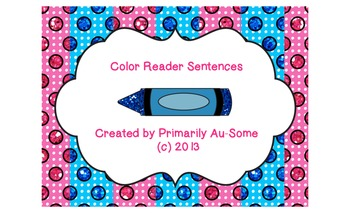 Color Sentence Reader for Emerging Readers
