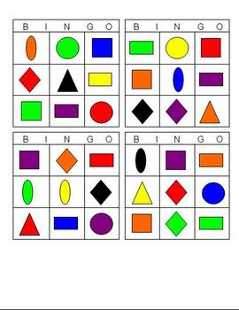 Color Shape Bingo