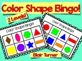 Color Shape Bingo - 2 Levels!