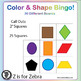 Color & Shape Bingo - 30 Different Boards + Extras! { Z is