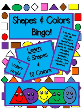 Color & Shape Bingo Common Core