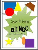 Color-Shapes Bingo & Shape Practice Sheets