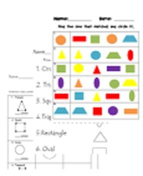 Color-Shapes Bingo & Shape Practice Sheets