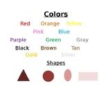Color & Shape Charts