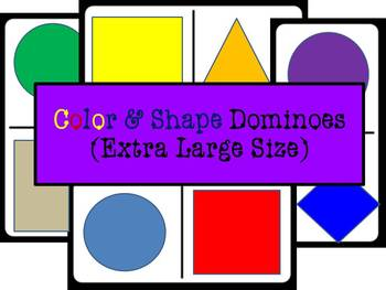 Color & Shape Dominoes - Extra Large