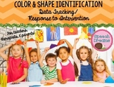 Speech Therapy Color and Shape {Identification Autism Data Tracking RTI}