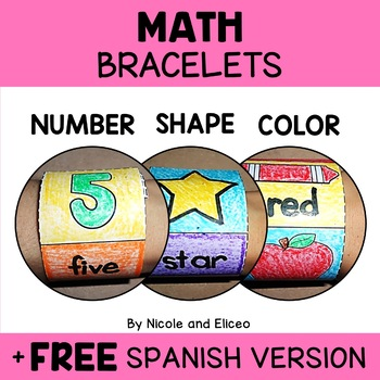 Bracelet Crafts - Math Colors Numbers and Shapes