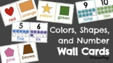 Color, Shape, & Number Wall Cards