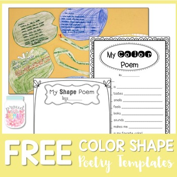 Color Shape Poetry Writing Templates