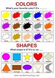 Color & Shape Poster