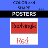 Color Shape Posters