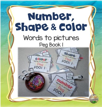 Color, Shape and Number Peg Books 1