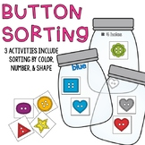 Button Sorting by Color, Shape, and Number Activities (3 A