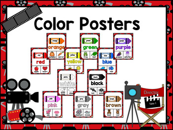 Color, Shape, and Solid Posters ~ Hollywood Theme, Movie Theme