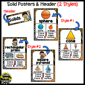 Color, Shape, and Solid Posters ~ Jungle Theme or Safari Theme