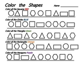 Color Shapes - Common Core Basic Geometry