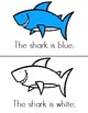Color Sharks Guided Reading Book- Level A Printable- Color and Black & White