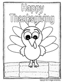 Color Sheet - Happy Thanksgiving