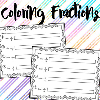 Color & Show the Fractions