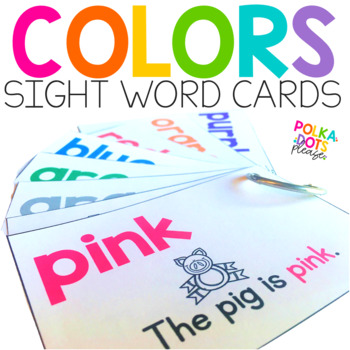 Color Sight Word Cards