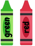 Color Sight Word Crayons